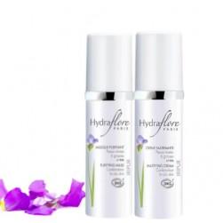 Duo Masque Purifiant Bio Iripur d'Hydraflore + Crème Matifiante Bio Iripur d'Hydraflore